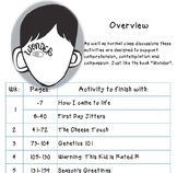 Wonder by RJ Palacio novel activities, text study, vocab l