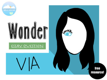wonder reflective essay on via by swisssimplicity  tpt