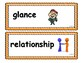 Wonders Second (2nd) Grade Vocabulary Cards Units 1 - 6
