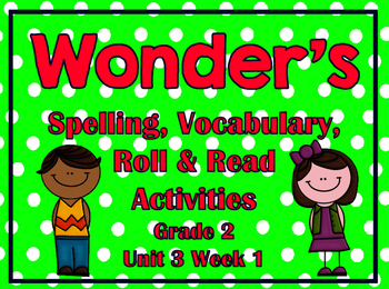 Wonder's Spelling, Vocabulary, Roll & Read Activities Grade 2