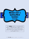 Wonder's Unit 1: Spelling Word Searches