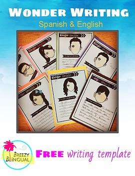 Wonder writing in Spanish and English