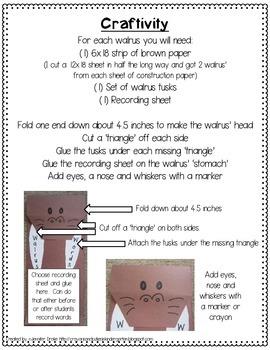 Wonderful Walrus Words Craftivity!  Record Words in Many Ways!  *EDITABLE*