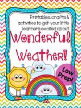 Wonderful Weather: Craft ideas, activities & printables