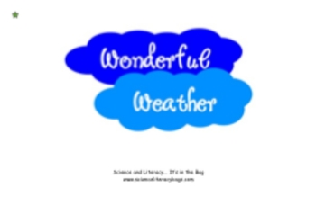 Wonderful Weather Science Literacy Bag Download