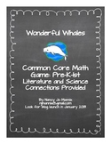 Wonderful Whales  Common Core Math Game for Pre-K - 1st Grade