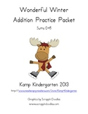Wonderful Winter Addition Practice Packet (Sums of 0-5)