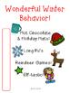 Wonderful Winter Behavior Rewards Christmas Theme