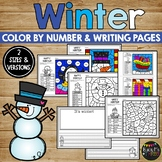 Winter Coloring Pages and Writing Sheets, Snow, Hot Cocoa, Gingerbread Man