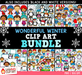 Wonderful Winter GROWING Clip Art Bundle