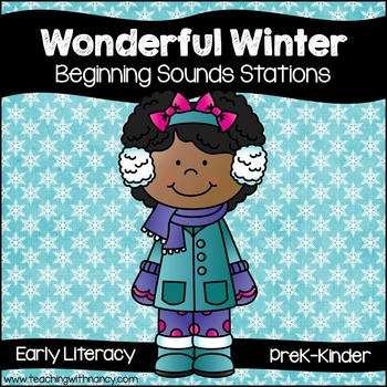 Wonderful Winter Initial Sounds Stations