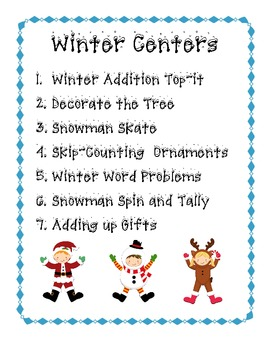 Wonderful Winter Math Centers