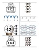 Wonderful Winter Multiplication Models Card Match BUNDLE: 2s-10s (3.4E, 3.OA.1)