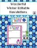 Editable Wonderful Winter Newsletters