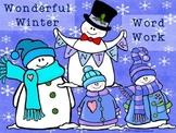 Wonderful Winter Word Work - Middle Years