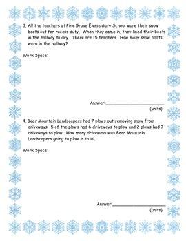 Wonderful Winter Word problems