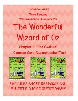 Wonderful Wizard of Oz Chapter 1 Passage Close Reading Questions
