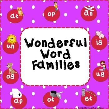 Wonderful Word Families