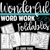 Wonderful Word Study Foldables