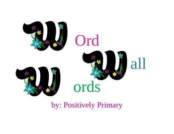 Wonderful Word Wall Words