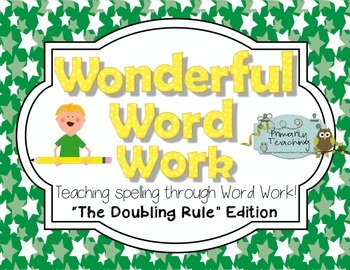 Wonderful Word Work:  Doubling Edition