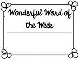 Wonderful Word of the Week