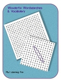 Wonderful Wordsearches & Vocabulary Pack