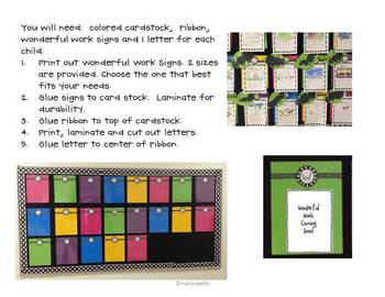 Wonderful Work Bulletin Board Letters and Signs