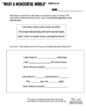 Wonderful World Worksheets - Poetry and Music