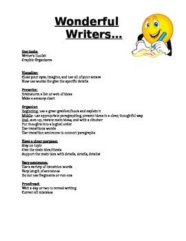 Wonderful Writer's