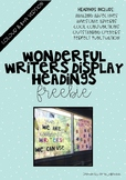 Wonderful Writers Display Headings FREEBIE!