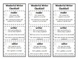 Wonderful Writing Checklist