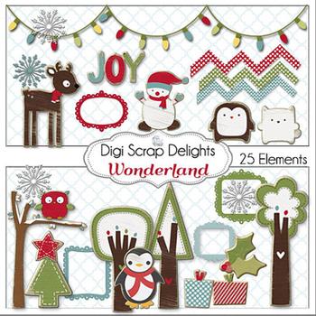 Wonderland Christmas Clip Art