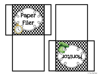Wonderland Class Jobs Bulletin Board Set