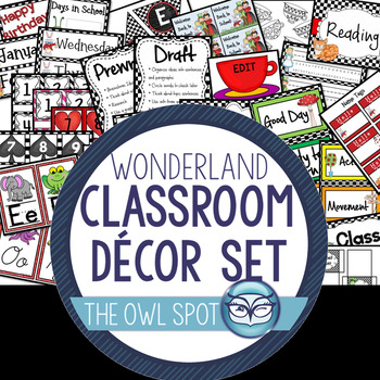 Wonderland Classroom Decor Kit