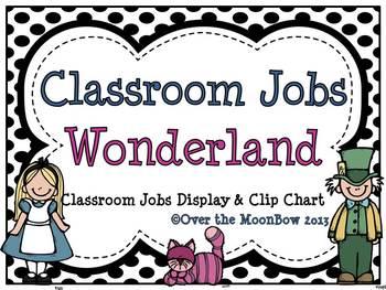 Wonderland Classroom Jobs Display & Clip Chart