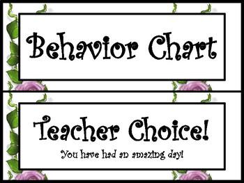Wonderland Classroom behavior chart