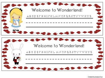 Wonderland Inspired Classroom Starter Kit