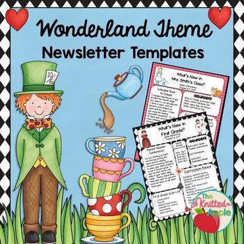 Wonderland Theme Newsletter Templates