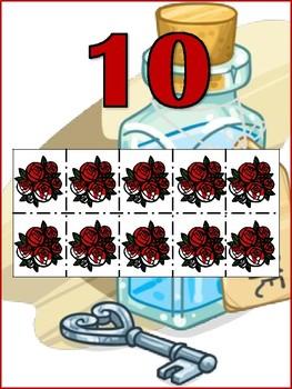 Wonderland Number chart, 10 frames.