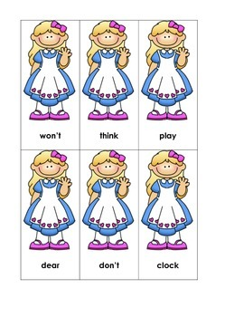 Wonderland Sight Word Game