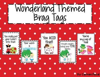 Wonderland Themed Brag Tags
