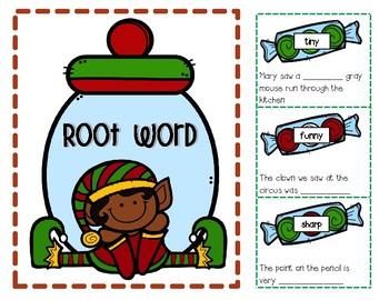 Wonderland Word Parts! Christmas Prefixes and Suffixes