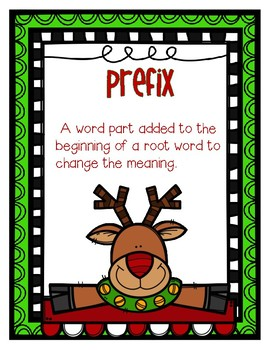 Wonderland Word Parts! Christmas Prefixes and Suffixes