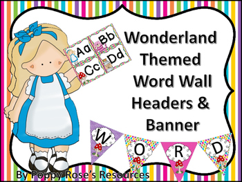 Wonderland Word Wall Heading and Wall Banner