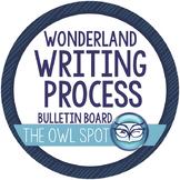 Wonderland Writing Process Posters and Interactive Bulletin Board Set