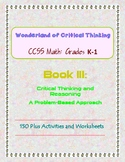 Wonderland of Critical Thinking: CCSS (Common Core) Math: