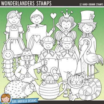 Wonderland Characters Clip Art