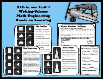 Wonderopolis Amelia Earhart Writing-Science Math-Engineering Project