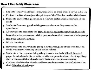 Wonderopolis Arctic Writing-Non-Fiction-Math- Craft Unit